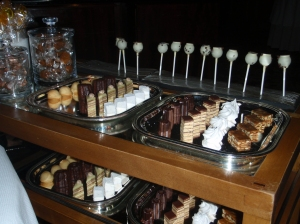 Trolley full of Pastry Chef's desserts