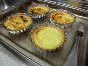 our 1/2 decent looking egg tarts